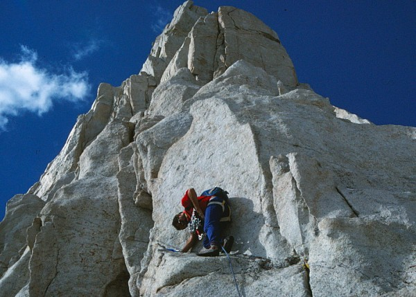 Vic Madrid on the lower section of the route - 1988