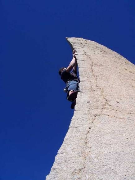 &quot;Great line, awsome rock, blue sky, can it get any better?&quot; <br/>