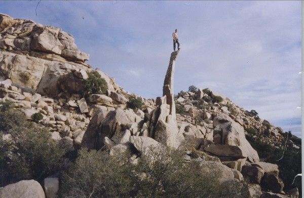 Me, Paul Humphrey, at J-Tree, early 1990's, by Bob Crowell. (My gi...