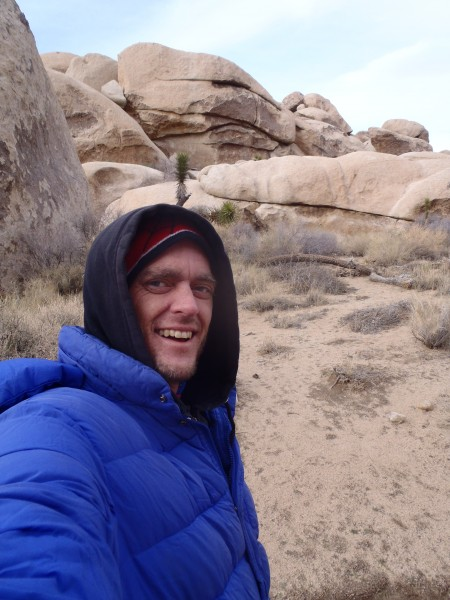 """""""Oh, yeah! I remember this place."""" Disaster Master at Joshua Tree."""