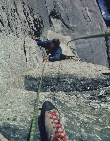 Grandwall, Squamish Chief - Split Pillar pitch - 1985