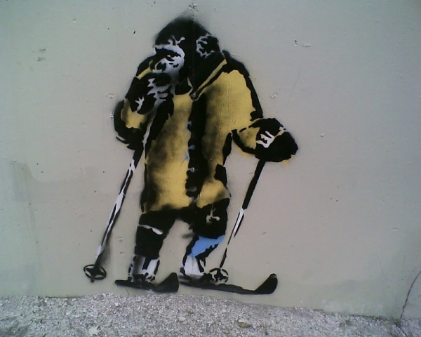 Banksy in Little Cottonwood Canyon Utah?