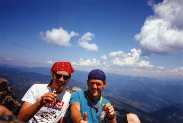 Paul and Jeff on top of Preston Peak, circa 1994-5