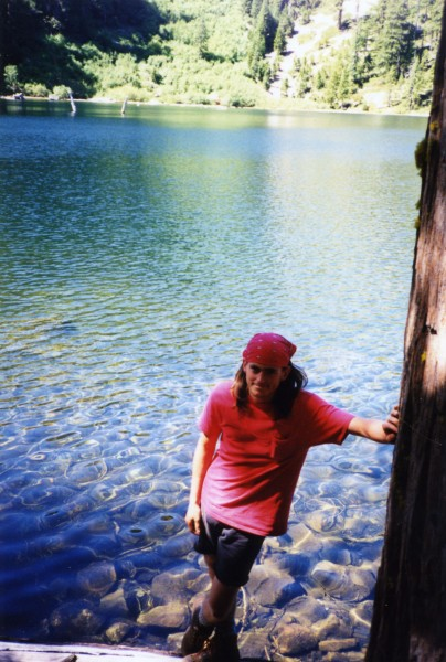 Paul by some lake on the way to Preson Peak, circa 1994-5