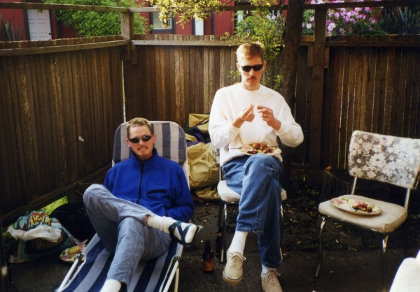 Paul and Jeff, Hollenbeck Humboldt visit 1997