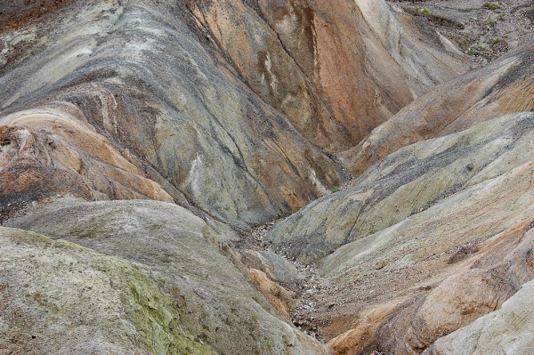 Looking down a gully in Death Valley