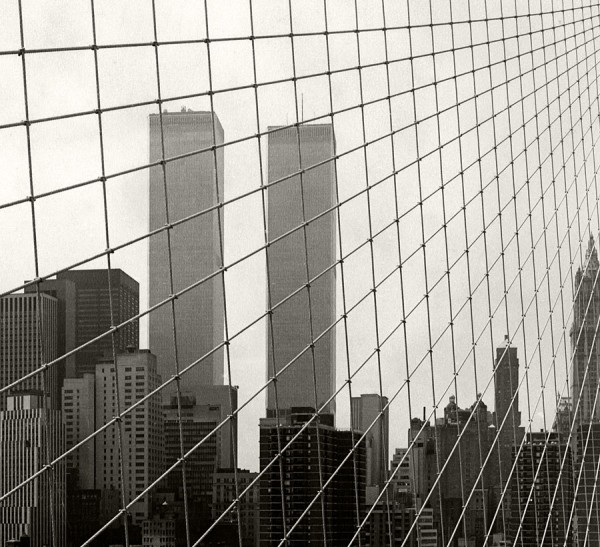 World Trade Center from the Brooklyn Bridge, 1972