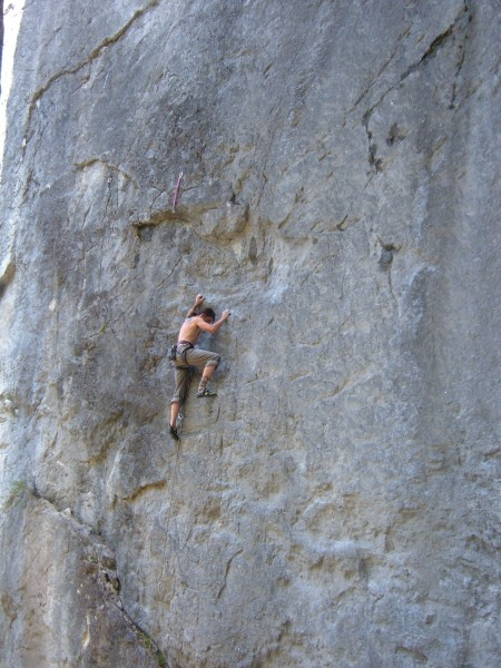 "Dru on ""4:20 Shadow"" 5.11. Trinity Aretes, CA."