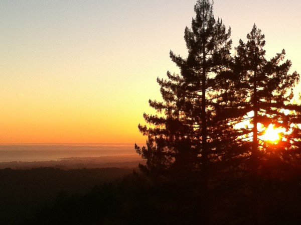 Sand Point Overlook, where I often mtn. bike to, with Santa Cruz below