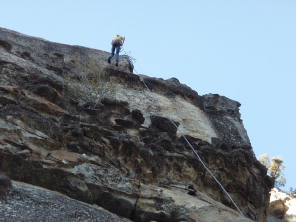 steep rappel of pitch 4