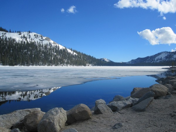 Along Tenaya Lake, opening '10 weekend