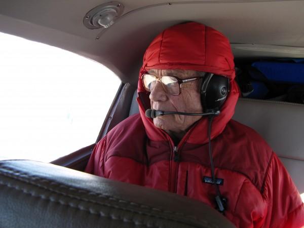 Taking Layton Kor for an aerial victory lap of southwest desert peaks