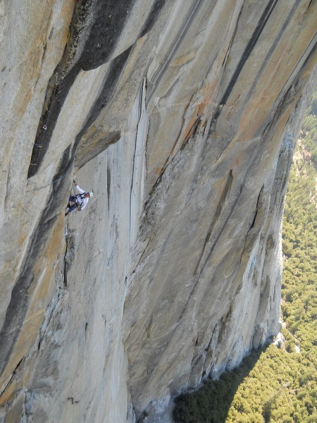 one of the best pitches of the climb