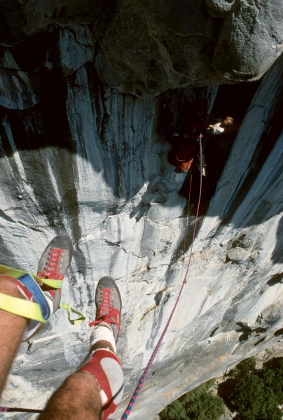 """Randy Leavitt looking down at Rob Slater after leading the """"Steeper Th..."""