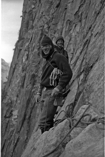 George Meyers and Kevin Worrall near nowhere on the 1st ascent of Free...