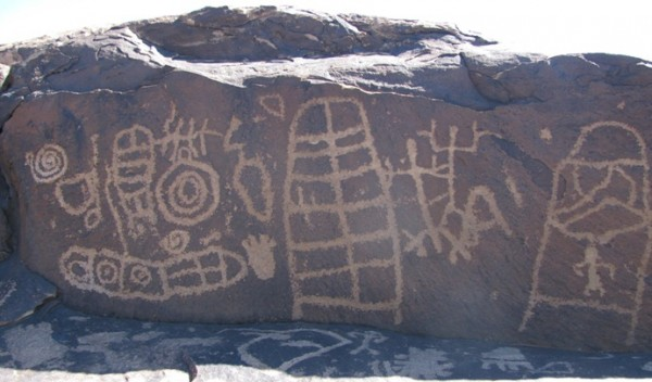 Petroglyph panel outside St. George, UT.