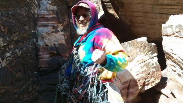 Mr. Cosmic in tye dye glory!