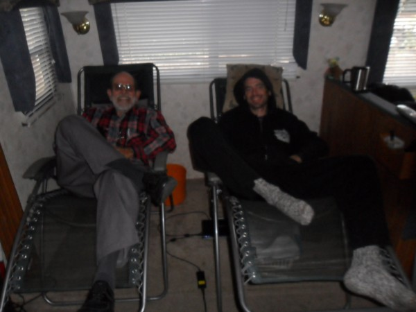 Paul and Dad (Pastor Dave) Hanging out in Santa Rosa 3/4/2011