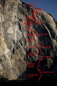 El Capitan - The Prophet 5.13d - Yosemite Valley, California USA. Click to Enlarge