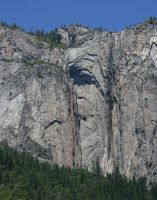 Ribbon Fall Wall - Laughing At The Void A2+ 5.9 - Yosemite Valley, California USA. Click to Enlarge