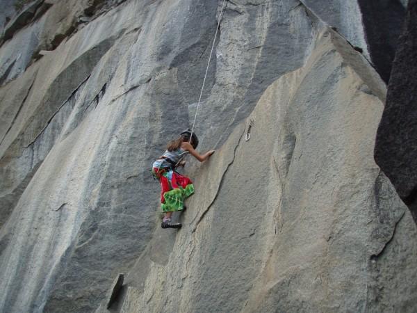 makayla on the silver bullet. lee vining canyon