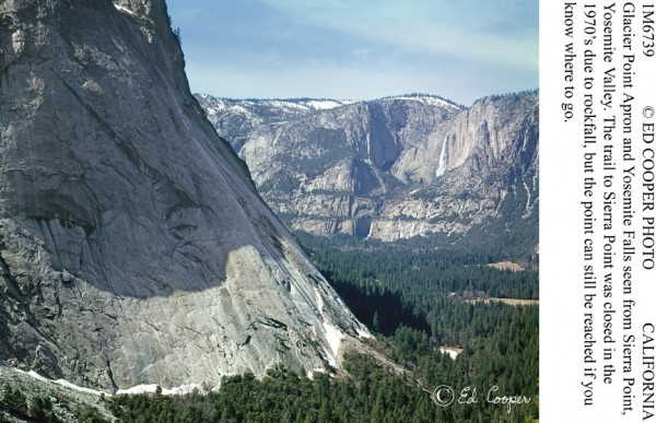 An overview of Glacier point Apron from Sierra Point, a trail that has...