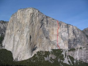 El Capitan - Scorched Earth A4 5.8 - Yosemite Valley, California USA. Click to Enlarge