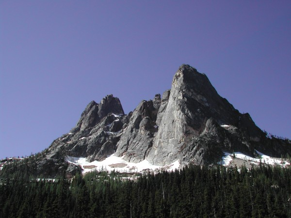 Washington Pass peaks from the E