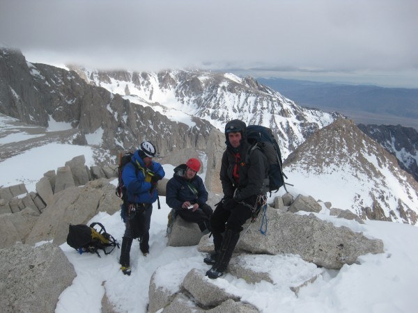Part of the group on the summit. Shane, Mark and Vitaliy (L to R)