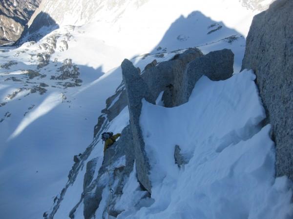 Climbing on the Arete