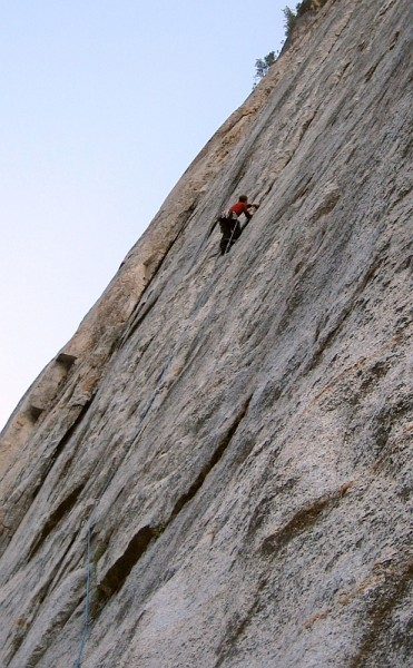Chad - Stoner's p2. <br/> The goal was just to set up a rappel at the end ...