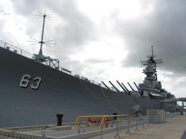 USS Missouri where the Japanese signed their unconditional surrender.