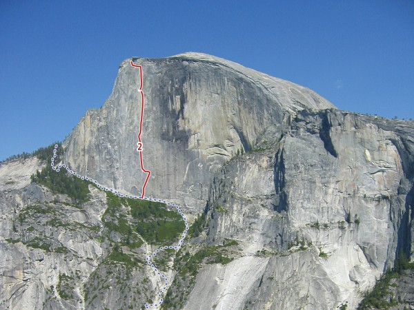 Direct Northwest Face of Half Dome