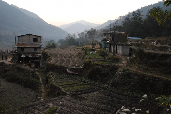 Lamosangu.  Recently under maoist control.  Now a new and thriving chu...