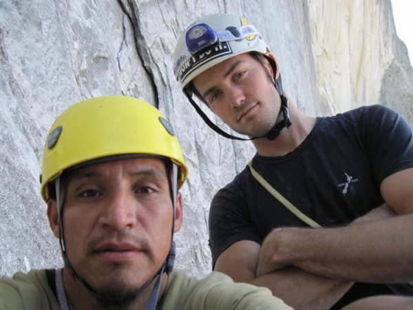 Zachary Parke (right) and Sebastian on the NW Face of Half Dome