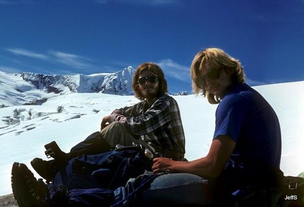 John Wittmayer and Peder Ouram - 1978 Glaciological field technicians