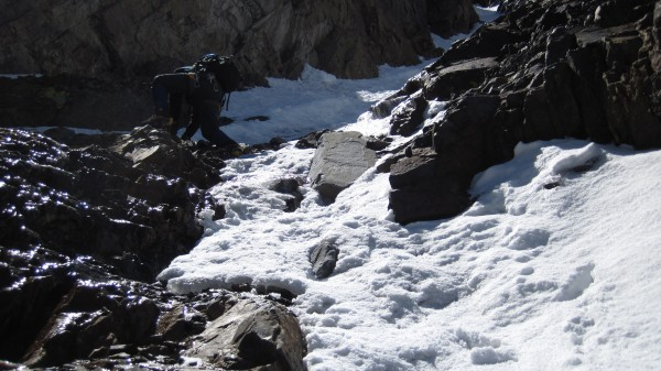 Of course, it was even warmer in the sun in the upper gully. (June...