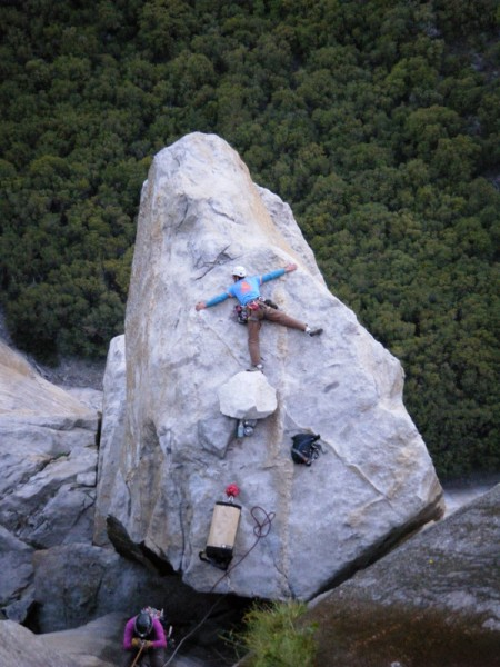 Splayed out on El Cap Spire