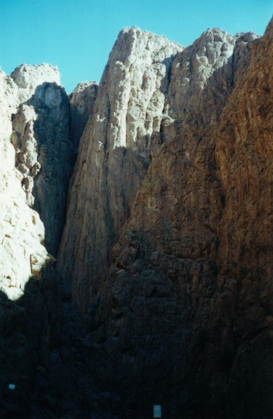 Pillar Couchant at the Todra Gorge. We did a 5.10 route up the pillar ...