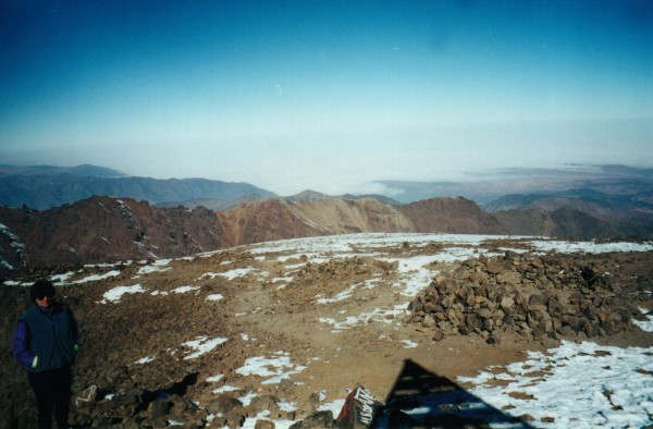 The view from the summit of the highest mountain in the High Atlas &#4...