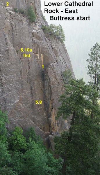 Lower Cathedral Rock - East Buttress start