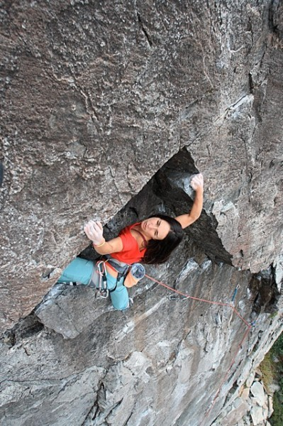 Sanam warming up on RocknRolla 5.9.  Candy Land, Bowman Valley.
