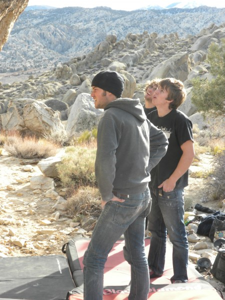 Zach, Joel the Aussie, and Conor just staring at the beauty of the Pol...