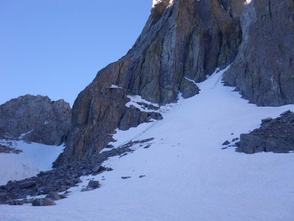 Snowfield below Venusian Blind and Moon Goddess Arete