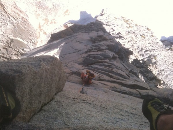 Andrew following pitch 5