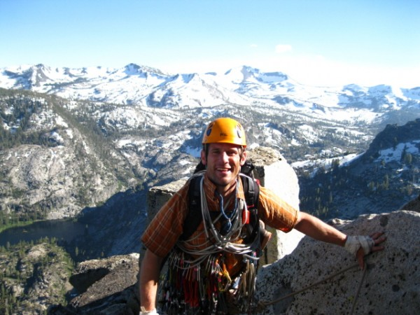 Stephen with Desolation Wilderness in the background