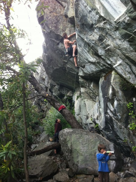 "Ethan and Lisa - third ascent of ""Bear Trap"" .11b. Bear's Lair, Emeral..."