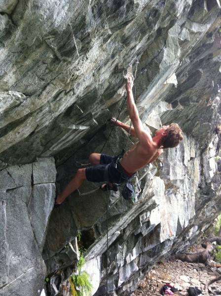 "Ethan - third ascent of ""Buzz Kill"" .11d. Bear's Lair, Emeralds."