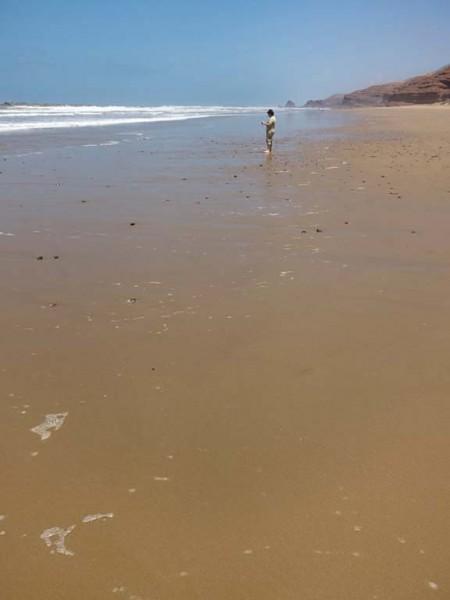 Legzira Plage--classic sandy beach