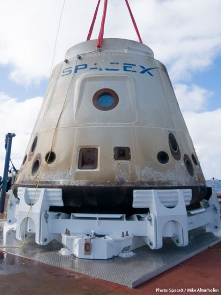 SpaceX Dragon, first successful private orbital re-entry vehicle